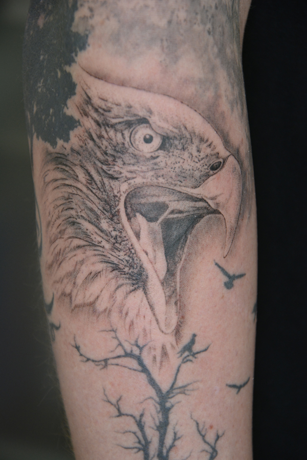 Silvano Braga Tattoo Gallery Blackandwhite Eagle 01