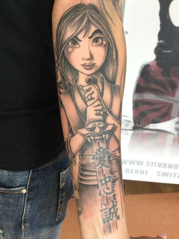 Silvanobraga Tattoo Gallery Disney Mulan