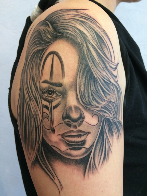 Silvanobraga Tattoo Gallery Chicano Portrait 002