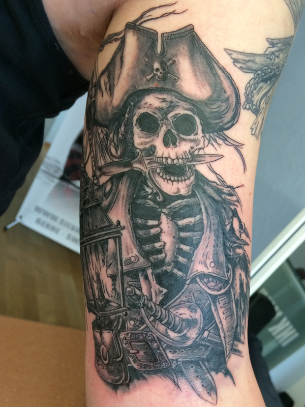 Silvanobraga Tattoo Gallery Skeleton Captain